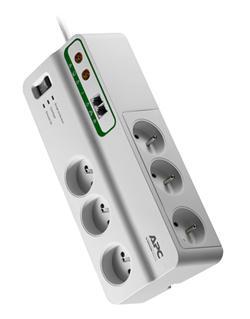 APC Home/Office SurgeArrest přepěťová ochrana 6 zás. + Phone & Coax Protection, 3m přívodní kabel