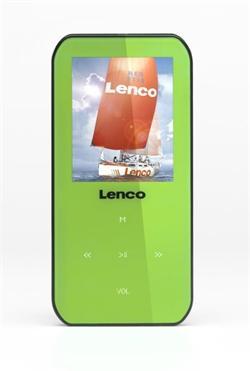 LENCO Xemio 655 - green - MP3/MP4 přehrávač, 4GB + microSD slot