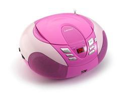 LENCO SCD-37 USB Pink - přenosný CD/MP3 přehrávač