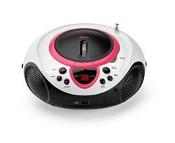 LENCO SCD-38 USB Pink - přenosný CD/MP3 přehrávač