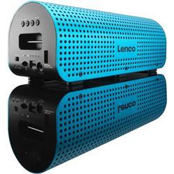 LENCO Grid 7 Blue - 2.1 přenosný bluetooth reproduktor s podporou handsfree telefonováním