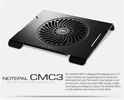 """chladiaci podstavec Coolermaster CMC3 pro NTB 12-15"""" čierny, 20cm ventilátor"""