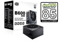 CoolerMaster B2 series 600W PFC v2.3, 12cm fan, eff. 85% - ErP 2013, čierny