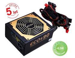 Eurocase 1000W ECO+90 ATX-1000WA-14-90, APFC, eff. 90+, 14cm fan, bulk