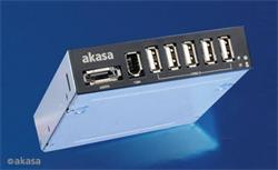 "AKASA AK-ICR-08, 3,5"" interná mechanika s vystupmi 5xUSB,1xeSATA,,1xFirewire"