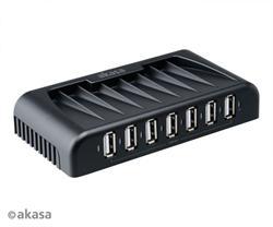 AKASA AK-HB-09BK 7-portový externí USB HUB, černý Connect 7+