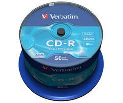 Verbatim - CD-R  700MB  52x  50ks v cake obale