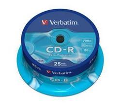 Verbatim - CD-R  700MB  52x  25ks v cake obale