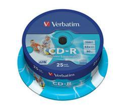 Verbatim - CD-R  700MB  52x Printable 25ks v cake obale