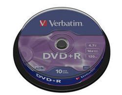 Verbatim - DVD+R  4,7GB  16x  10ks v cake obale
