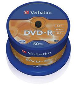 Verbatim - DVD-R  4,7GB  16x  50ks v cake obale