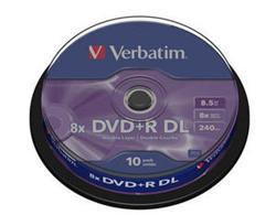 Verbatim - DVD+R  8,5GB  8x  Dual Layer  10ks v cake obale