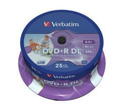 Verbatim - DVD+R  8,5GB  8x  Dual Layer  Printable  25ks v cake obale