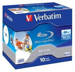VERBATIM BD-R DL 50GB 6x WIDE PRINTABLE BOX 10pck/BAL
