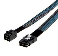 INTEL 650mm long cables, straight MiniSAS-HD (SFF-8643) to straight MiniSAS