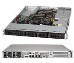 "SUPERMICRO 1U server 2x LGA2011, iC602, 16x DDR3 ECC R, 8x HS (2,5""), 2x700W 80+, IPMI, 2x10GbE SFP+ WIO"