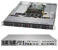 "SUPERMICRO 1U server 1x LGA2011-3, iC612, 8x DDR4 ECC R, 8x SATA HS (2,5""), 2x700W, IPMI"