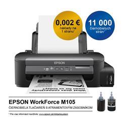 Epson WorkForce M105, A4 mono tlaciaren, USB, WiFi