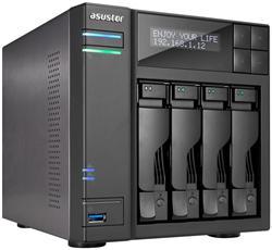 Asustor™ AS6204T 4-bay HS NAS, Intel Celeron QC, 4 GB DDR3L, 2x GbE, 3x USB 3.0, 2x USB 2.0, 2x eSATA, HDMI 1.4b, S/PDIF