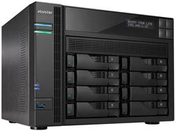 Asustor™ AS7008T 8-bay HS NAS, Intel Core i3 3.5 GHz DC, LCD, 2GB DDR3, 2x GbE, 3x USB 3.0, 2x USB 2.0, 2x eSATA, HDMI 1