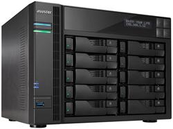 Asustor™ AS7010T 10-bay HS NAS, Intel Core i3 3.5 GHz DC, LCD, 2GB DDR3, 2x GbE, 3x USB 3.0, 2x USB 2.0, 2x eSATA, HDMI