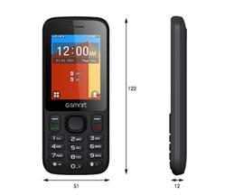 """GIGABYTE GSmart F240 Dual SIM, 2.4""""QVGA 240x320,RAM 4MB+ROM 4MB,microSD up to 32GB, BT,FM,Torch Light,950mAh, Černý"""