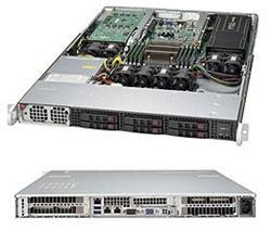 """SUPERMICRO 1U server 1x LGA2011-3, iC612, 8x DDR4 ECC, 6x SATA HS (2.5""""), 1400W, IPMI, 2x LAN i350"""