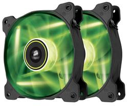Corsair ventilátor Air Series SP120 120mm, 3pin, zelený LED, twin pack