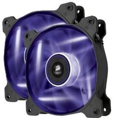 Corsair ventilátor Air Series AF120 LED Purple Quiet Edition, 2x 120mm, 25dBA, Twin pack
