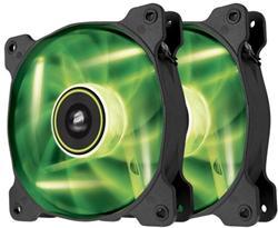 Corsair ventilátor Air Series SP140 140mm, 3pin, zelený LED, twin pack