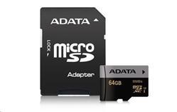 ADATA 64GB Micro SD SDXC UHS-I U3 Class 10 Premier Pro s adaptérem