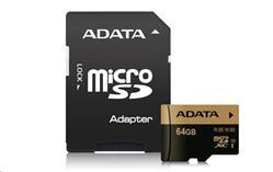 ADATA 64GB Micro SD SDXC UHS-I U3 Class 10 XPG s adaptérem