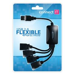 CONNECT IT 4-portový USB hub - Flexible