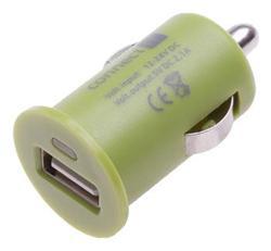 CONNECT IT InCarz COLORZ nabíječka do auta 1xUSB 2,1A, zelená