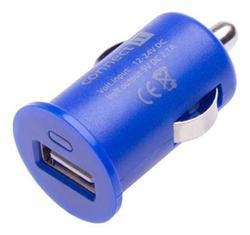 CONNECT IT InCarz COLORZ nabíječka do auta 1xUSB 2,1A, modrá