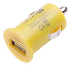 CONNECT IT InCarz COLORZ nabíječka do auta 1xUSB 2,1A, žlutá