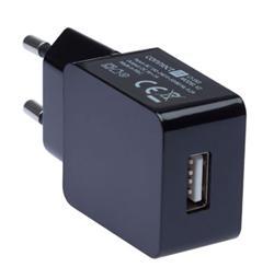 CONNECT IT COLORZ nabíjecí adaptér 1xUSB 1A, černý