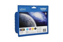 Brother LC-900 VALBP, cartridge multipack (černá + 3 barvy)