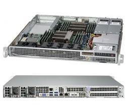 "SUPERMICRO 1U server 2x LGA2011-3, iC612 , 16x DDR4 ECC R, 2x Fix (2,5""), 2x400W, 2x10GbE, IPMI, WIO"
