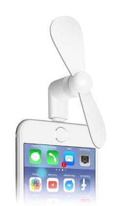 CONNECT IT letní mini větráček pro Lightning, bílý