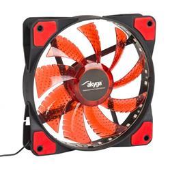 Akyga Ventilátor 12cm LED červený
