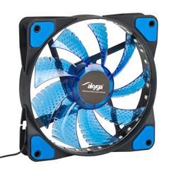 Akyga Ventilátor 12cm LED modrý