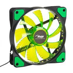 Akyga Ventilátor 12cm LED zelený