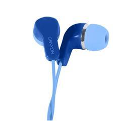 CANYON stereo sluchátka s mikrofonem, modrá