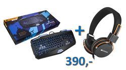 CANYON  BUNDLE herní klávesnice + headset