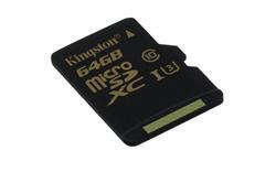 Kingston paměťová karta 64GB Gold micro SDHC UHS-I U3 (čtení/zápis: 90/45MB/s)