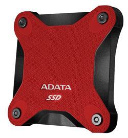 ADATA externí SSD SD600 256GB USB 3.1 Gen1 3D NAND TLC (čtení/zápis: 440/430MB/s) Červená