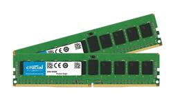 Crucial DDR4 32GB (Kit 2x16GB) DIMM 2400MHz CL17 ECC Reg SR x4 VLP