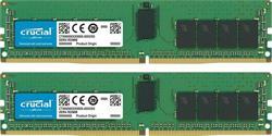 Crucial DDR4 32GB (Kit 2x16GB) DIMM 2666MHz CL19 ECC Reg SR x4 VLP