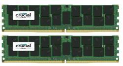 Crucial DDR4 64GB (Kit 2x32GB) DIMM 2400MHz CL17 ECC Reg DR x4 VLP